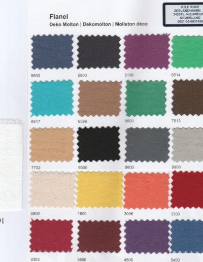 Flanel Kleurenkaart